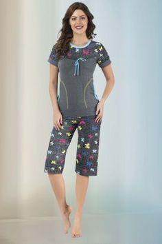 Ürün Kodu:#31663 Summer Pajamas, Cute Pajamas, Pajamas Women, Active Wear For Women, Women Wear, Mix Match Outfits, Womens Pyjama Sets, Night Dress For Women, Night Suit