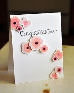 Floral Congratulations Card by Maile Belles for Papertrey Ink (June 2013)