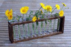 Reclaimed Wood Flower Holder, Upcycled Wood Vase, Unique Home Decor by WoodDecoration on Etsy https://www.etsy.com/listing/227805545/reclaimed-wood-flower-holder-upcycled
