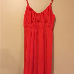 Little cotton red dress Little cotton red dress. Would be perfect for the pool. Wet Seal Swim Coverups
