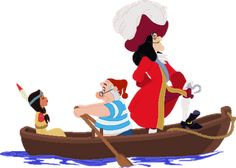 Captain Hook, Smee and Tiger Lily - Peter Pan