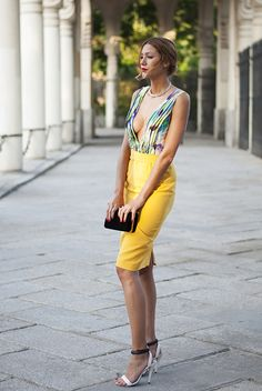 www.streetstylecity.blogspot.com Fashion inspired by the people in the street braless look ootd dress