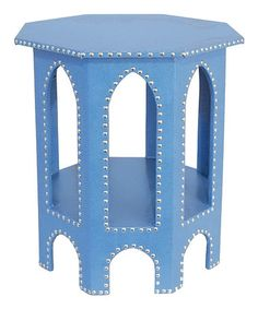 Take a look at this Blue Studded Moroccan Table by Three Hands Corporation on #zulily today!