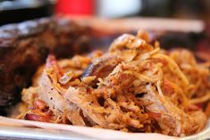 Pulled Pork by The Hungry Dudes Big and I love pulled pork. I mean, we really love pulled pork. Like, we eat it by itself. We eat it o. Carnitas, Stacking Wood, Bar B Q, Food Reviews, Pulled Pork, Sandwiches, Pork Sandwich, Barbecue, Meat