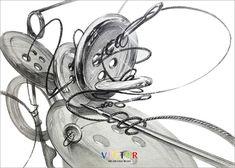 선의 자유로운 연출! 아름다운 기초디자인! 안녕하세요! 벡터입니다~! 점, 선, 면의 자유로운 활용이란 어... Still Life Drawing, Drawing Exercises, Disney Characters, Fictional Characters, Objects, Drawings, Blog, Design, Dressmaking