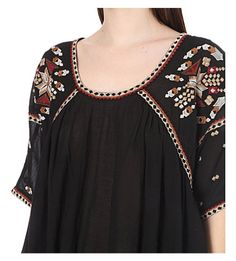 FRENCH CONNECTION Woodstock embroidered woven top