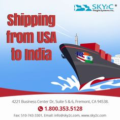 Get affordable quotes for shipping from USA to India. Sky2c provide service of Packing, Moving, Relocating & Shipping.