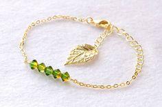 green + leaf ブレスレット by キラリづくり アクセサリー ブレスレット