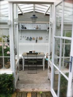 Our greenhouse made of old windows