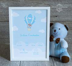 INVITATII HANDMADE by Mariana: Tablou personalizat ursulet