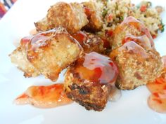 Coconut Tempeh Nuggets | flora foodie.  Can easily be gf with all purpose gluten free flour