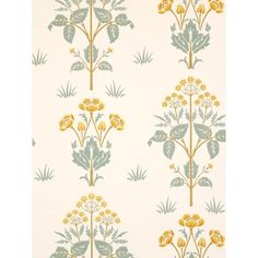 Meadow Sweet - Morris Wallpapers - A reinterpretation of this pretty classic floral motif design, with a delicate symmetry. Shown in the rose pink and green on a neutral base – available in other colours. Please request sample for true colour match. Fabric Wallpaper, Wallpaper Roll, Antique Wallpaper, Wallpaper Jungle, Coastal Wallpaper, Teal Wallpaper, Bedroom Wallpaper, Morris Wallpapers, Painted Rug
