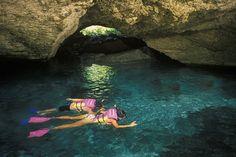 Riviera Maya, Mexico. [xcaret-subterranean river]