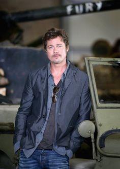 Brad Pitt at event of Fury (2014)