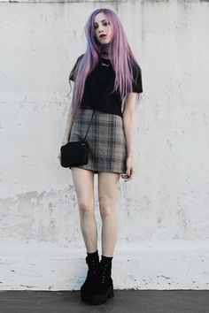 Grunge inspired 90s look x