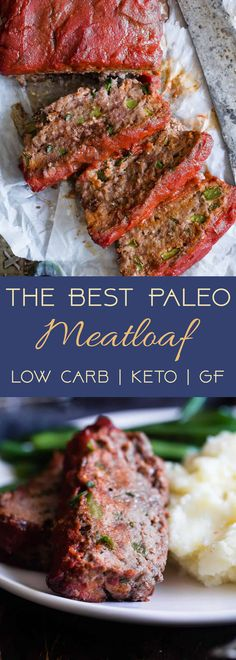 Easy Low Carb Paleo Meatloaf - This healthy Paleo Meatloaf is a family-friendly weeknight dinner that's gluten/grain/dairy/sugar free and whole30 compliant! Only 210 calories and picky eater approved! | #Foodfaithfitness | #Paleo #Whole30 #Keto #Glutenfree #LowCarb