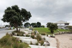 + Westhaven Promenade, Auckland. (ASPECT Studios in collaboration with Architectus and LandLAB, 2015) landscape architecture urban design waterfront coastal concrete step detail