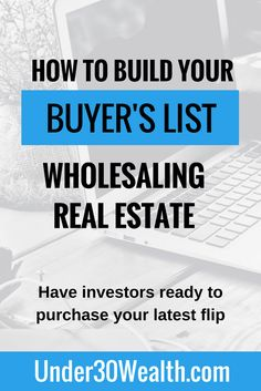 If you want to be successful as a wholesaler real estate investor, you need to have a ready to purchase buyer's list of investors who you can send deals to. Make sure to follow this guide to save yourself time and headaches. Click to read or hit save to share for later!