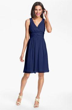 Donna Morgan 'Jessie' Twist Silk Chiffon Dress (Regular & Plus) available at #Nordstrom