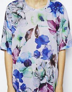 Enlarge ASOS Oversized Top in Blurred Floral