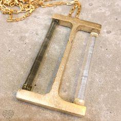 Collar IPE Estructural series en vidrio Murano y metal oro 18k vermeil