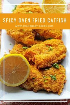 Perfectly flavorful oven fried catfish with a spicy edge.- Perfectly flavorful oven fried catfish with a spicy edge. Get that fantastic Southern flavor without the extra fat of frying. Fish Dishes, Seafood Dishes, Seafood Recipes, Cooking Recipes, Healthy Recipes, Baked Catfish Recipes, Fried Fish Recipes, Baked Catfish Fillets, Oven Fried Fish