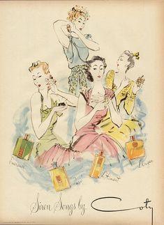 Coty perfumes, 1944.