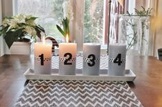Advent Pillar Candles, Advent, Christmas, Xmas, Weihnachten, Yule, Jul, Natal, Taper Candles