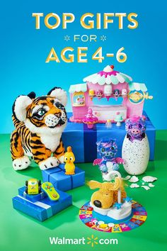 Searching for the perfect kid friendly gift? Walmart has the gifts the kids want. Give your little ones a holiday season to remember with these fun and thoughtful gift ideas from Walmart. Shop today.   Top Gifts for Kids age 4 to 6 include: FurReal Friends Tiger, Hatchimals Surprise, Soggy Doggy Board Game, Num Noms Nail Polish Maker and the PBS Kids Streaming Stick