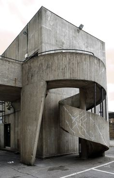 Visions Of An Industrial Age // Concrete Stairs on Amazing Stairs Ideas 3824 Concrete Architecture, Amazing Architecture, Art And Architecture, Architecture Details, Architecture Definition, Industrial Architecture, Japanese Architecture, Brutalist Buildings, Brutalist Design