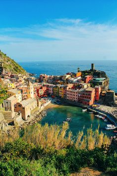 Vernazza in the Cinque Terre, from 23 Amazing Places You Must Include On Your Italian Road Trip - Hand Luggage Only - Travel, Food & Home Blog