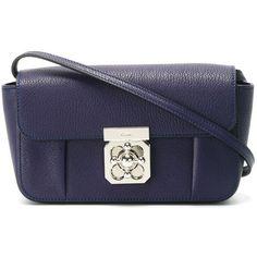 Chloé 'Elsie' shoulder bag ($600) ❤ liked on Polyvore featuring bags, handbags, shoulder bags, blue, blue purse, blue handbags, chloe shoulder bag, chloe handbags and blue shoulder bag