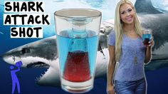 "A cool reverse bomb shot called ""Shark Attack: http://www.greatcocktailrecipes.net/2013/11/shark-attack-shot-via-tipsy-bartender.html"