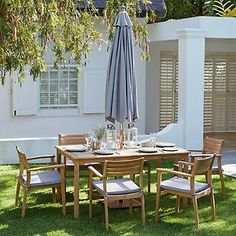 Garden Furniture Teak malmo wooden 6 seater garden furniture set | teak, gardens and