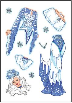 Dover Publications Sample: Glitter Snow Queen Sticker Paper Doll 2 Of 3