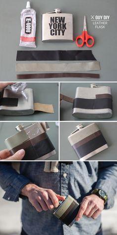 GUY DIY | Leather Wrapped Flask | I SPY DIY