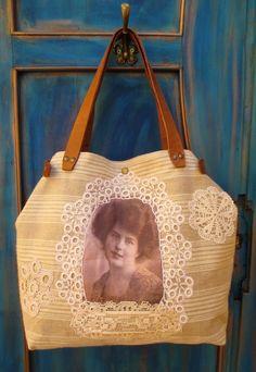 14-V. Vászontáska/antik újrahasznosított vászon táska/régi derékaljból készült táska /eredeti pamutvászon táska/ritka (HarmonicStyle) - Meska.hu