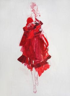 """Saatchi Art Artist Claudia Wimmer; Drawing, """"Red 04"""" #art"""