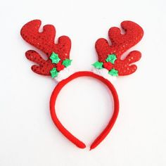Zonegear Christmas Antlers Headband Christmas Party Supplies Cute Sequins Hairpin Suitable for Adults and Children -- Awesome products selected by Anna Churchill