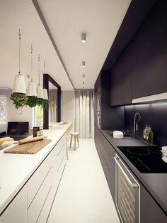 Elegant and modern kitchen interior.