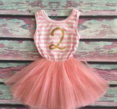 2nd Birthday Tutu Dress Birthday Dress Little Girls by Kylaco