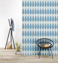Behang Botanic blue - Behangpapier - Muur