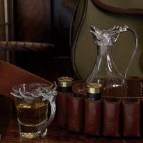 "At Home in the Country - Stag Whisky Jug ""Noggin"" and Shot Cup Set"