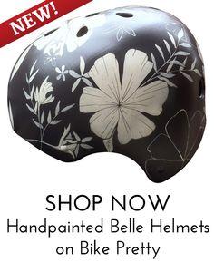 shop hand painted bike helmets by Belle Helmets