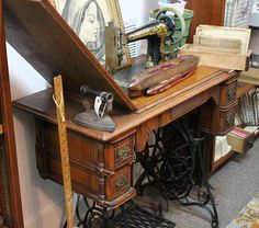 Sewing Machines | Treadle | Cabinets |  Vintage to a new treadle machine & cabinet
