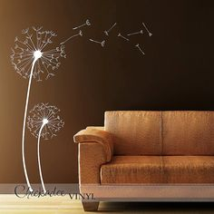 Dandelions Removable Vinyl Wall Decal by ChickadeeVinyl on Etsy, $69.99
