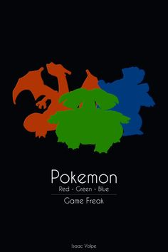 Pokemon: Red - Green - Blue by =Isaac-Volpe on deviantART