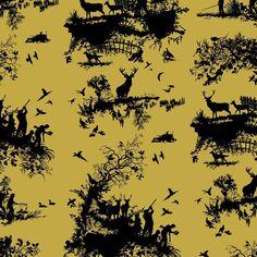 Timorous Beasties Hunting Toile Wallpaper | Houseology