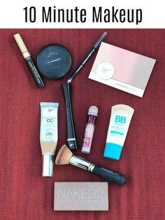 10 Minute Makeup {My Routine} Daily Makeup Routine, My Routine, Makeup Dupes, Eye Makeup, Makeup For Beginners, Beginner Makeup, Back To School Makeup, 5 Minute Makeup, Simple Everyday Makeup