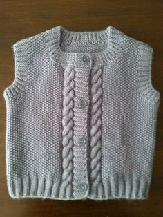 Round Collar Kids Jacket Recipe with Rice Pattern Auger Pattern. Baby Knitting Patterns, Arm Knitting, Baby Boy Vest, Baby Cardigan, Crochet For Kids, Crochet Baby, Knit Crochet, Knitted Baby Clothes, Boys Sweaters